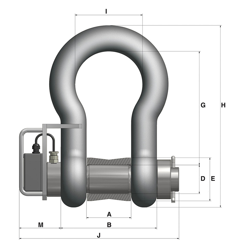 85 Tonne load shackle front view